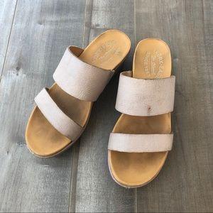 Kork-Ease slip on platform sandals